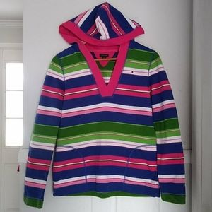 Tommy hilfiger multicolored striped hoodie